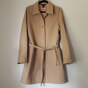 Abercrombie & Fitch Wool Camel Peacoat